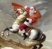 名画中的圣诞老人