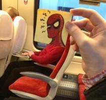 火车上的动画头像
