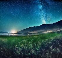 莫诺湖星夜