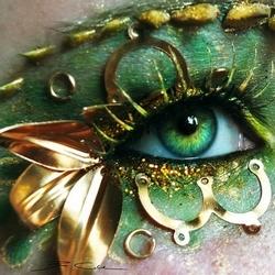 令人惊讶的眼睛的艺术