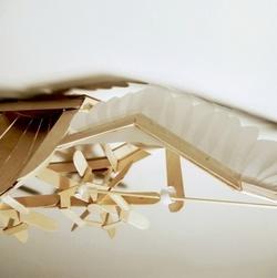 冰棒棍纸做成的飞鸟