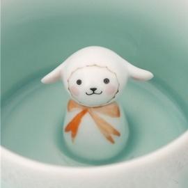 可爱美好的小动物茶杯